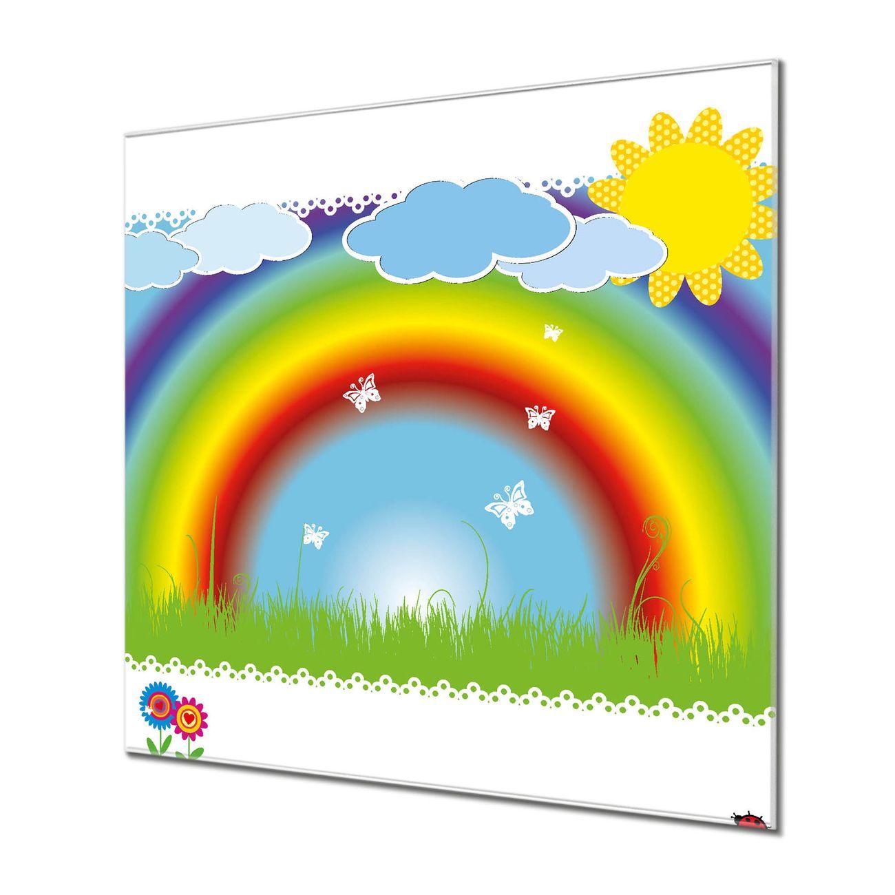 Küchenrückwand Glas Motiv Regenbogen