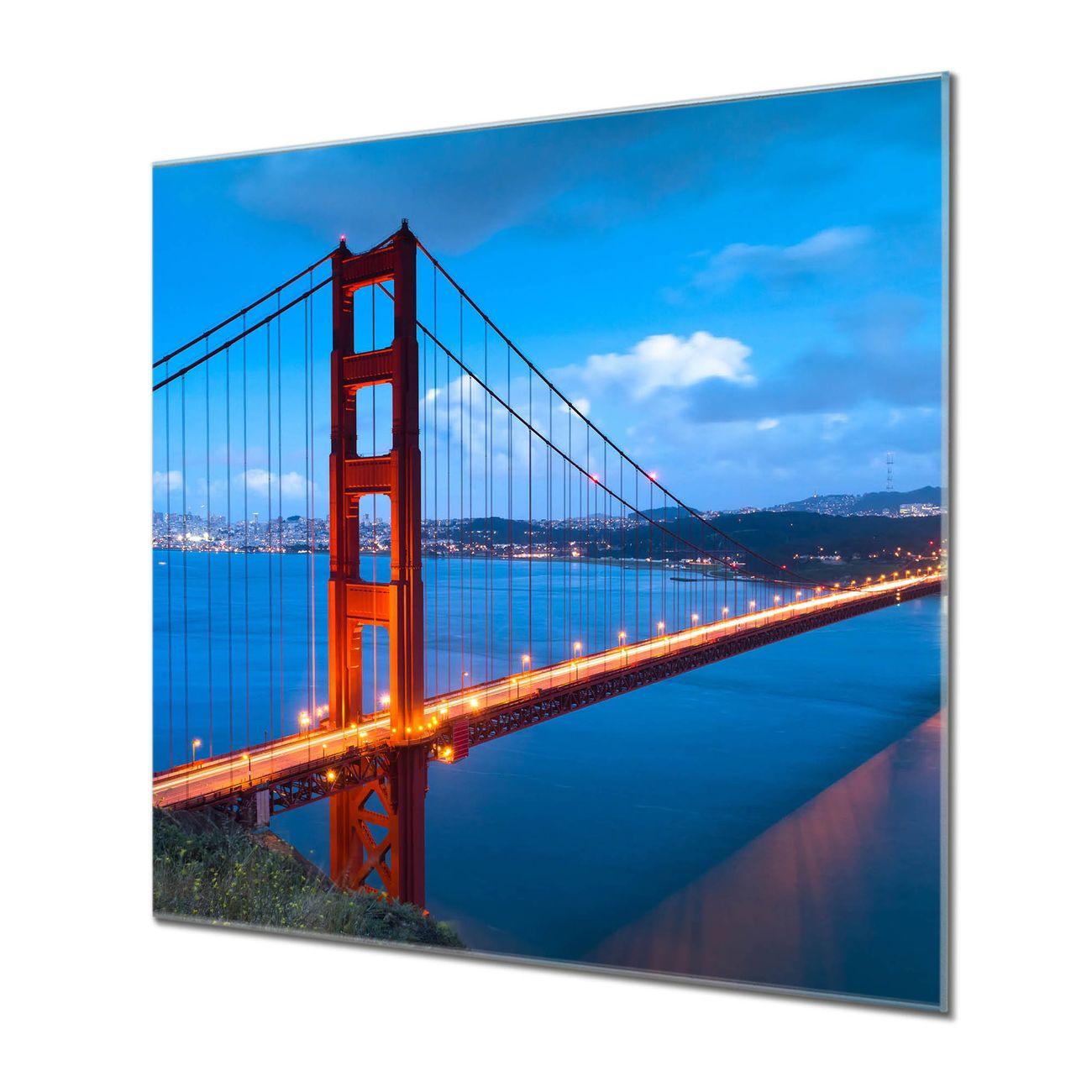 Küchenrückwand Glas Motiv Golden Gate Bridge