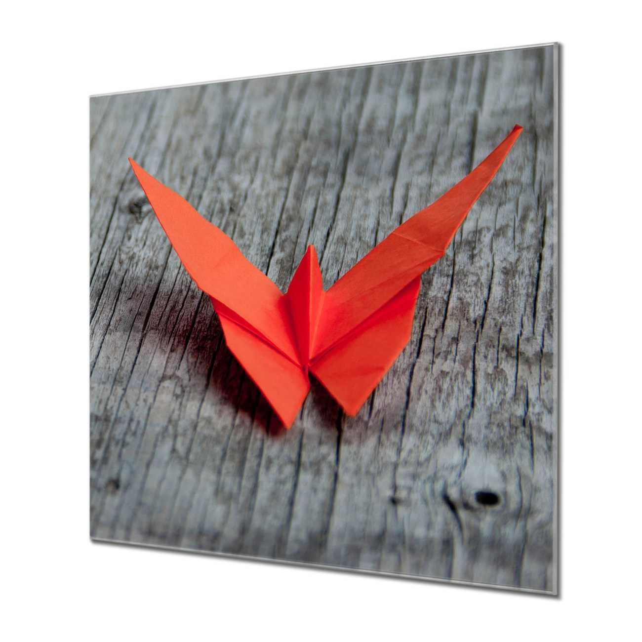 Küchenrückwand Glas Motiv Origami Schmetterling