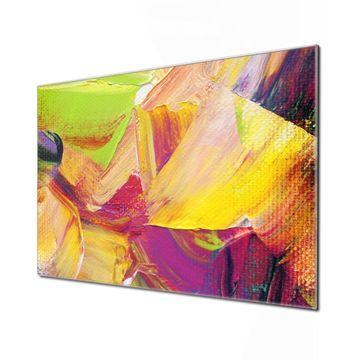 Küchenrückwand Glas Motiv Farbe auf Leinwand