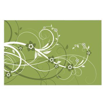 Küchenrückwand Glas Motiv Grüne Blüten