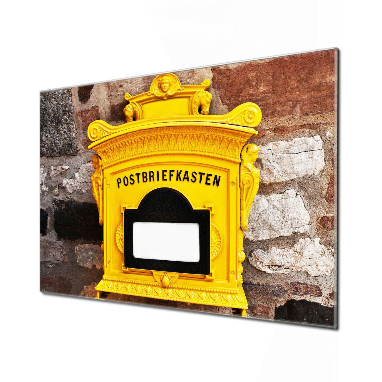 Küchenrückwand Glas Motiv Historischer Postkasten