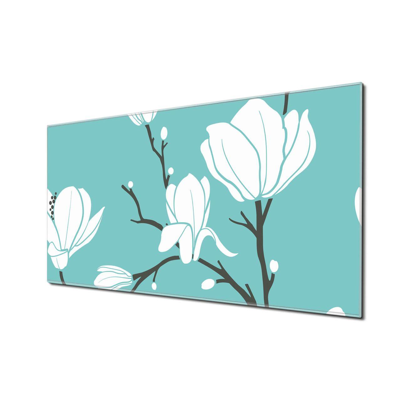 Küchenrückwand Glas Motiv Magnolien