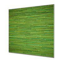 Küchenrückwand Glas Motiv Bambus Grün