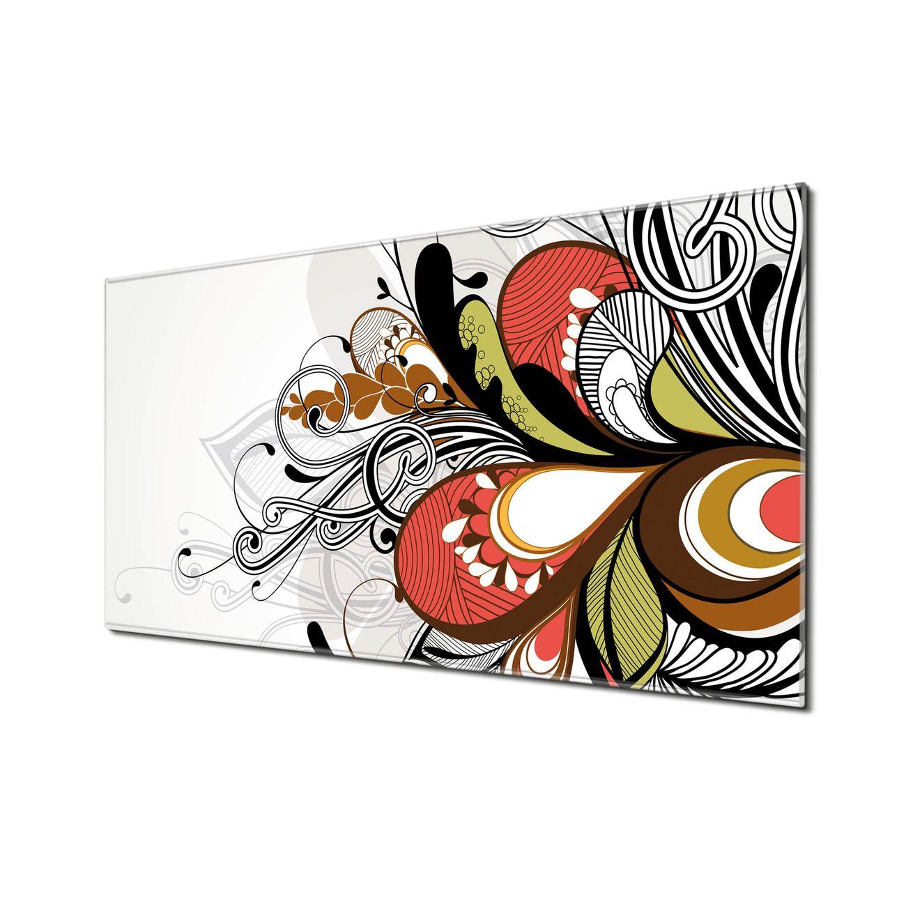 Küchenrückwand Glas Motiv Ornament 2