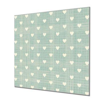 Küchenrückwand Glas Motiv Muster Herzen
