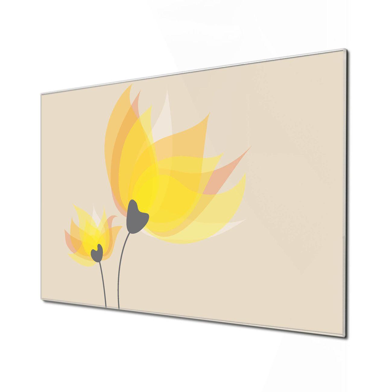 Küchenrückwand Glas Motiv Sommerblüten