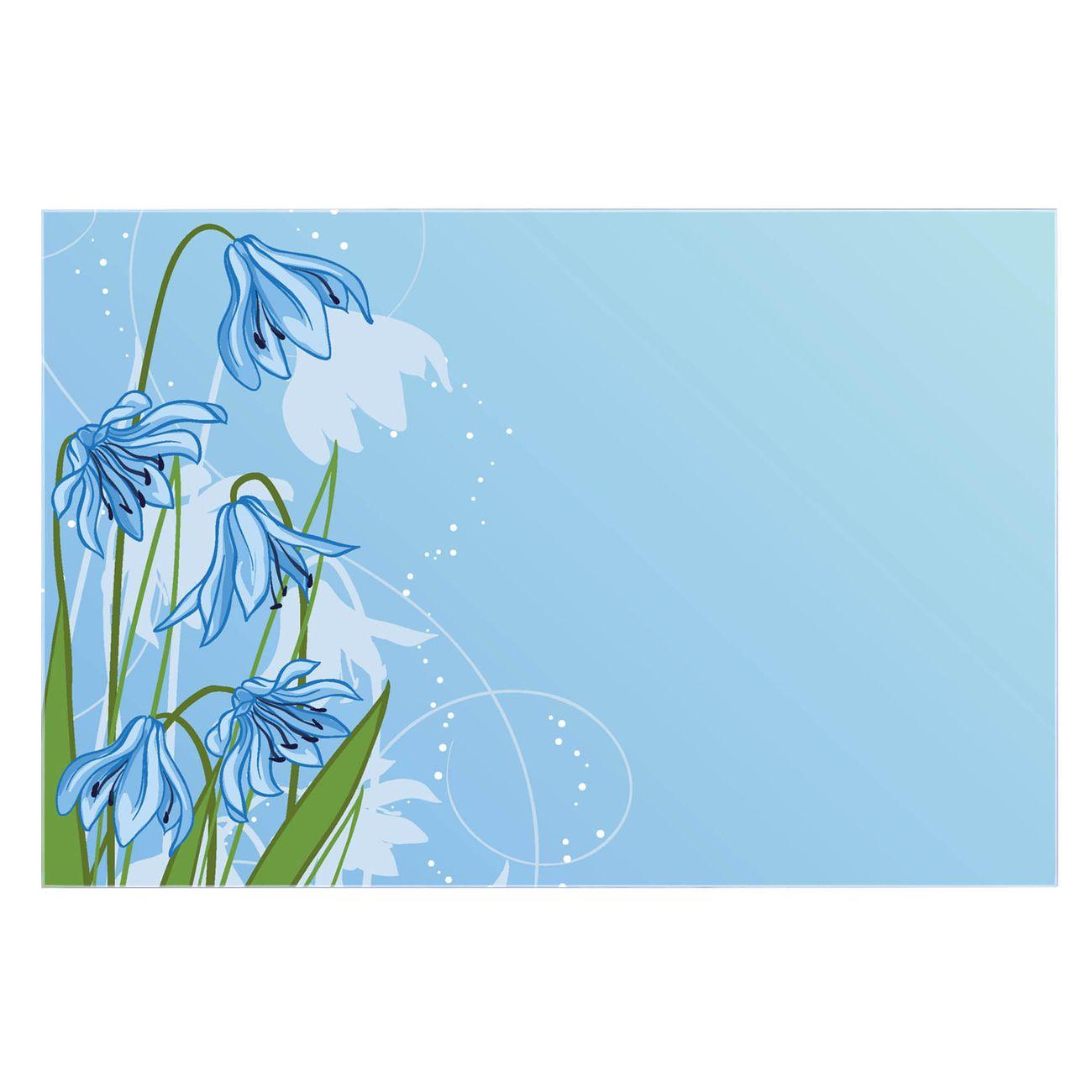 Küchenrückwand Glas Motiv Bergblaulilie