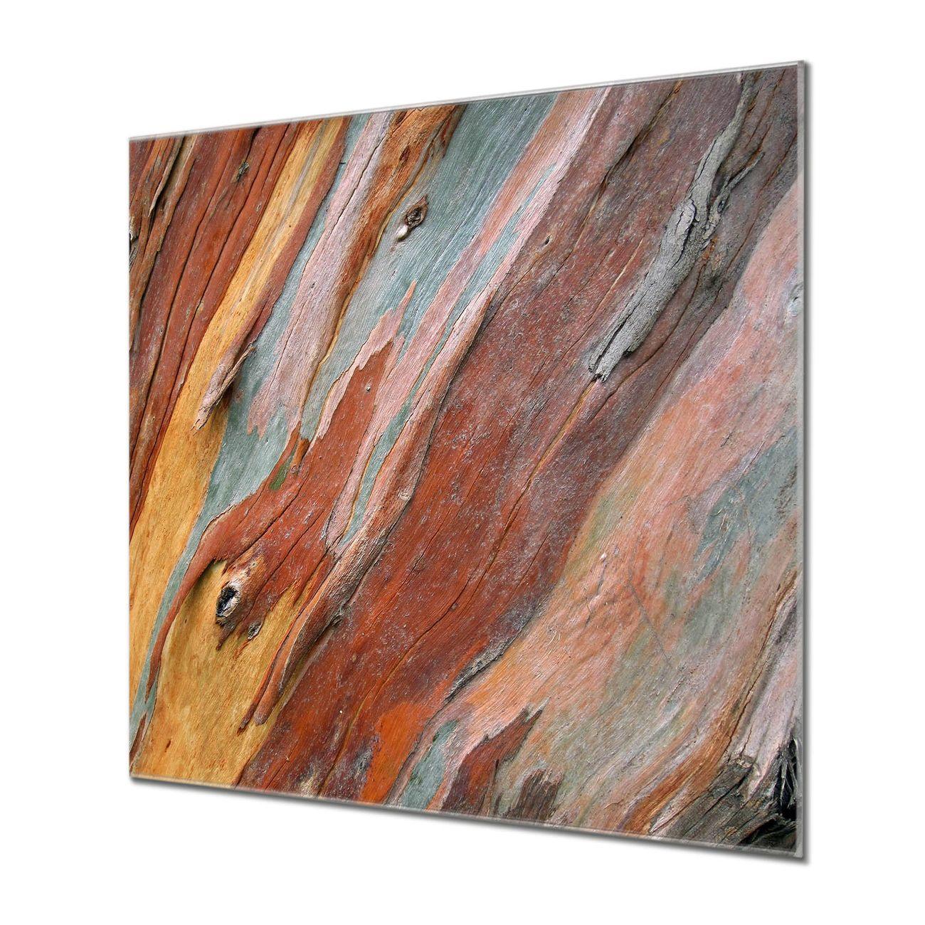 Küchenrückwand Glas Motiv Coloured Wood