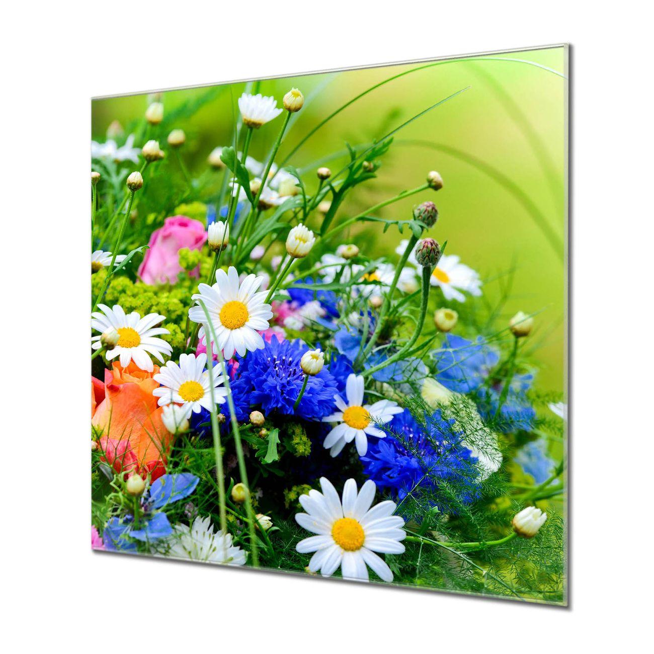 Küchenrückwand Glas Motiv Blumenstrauß