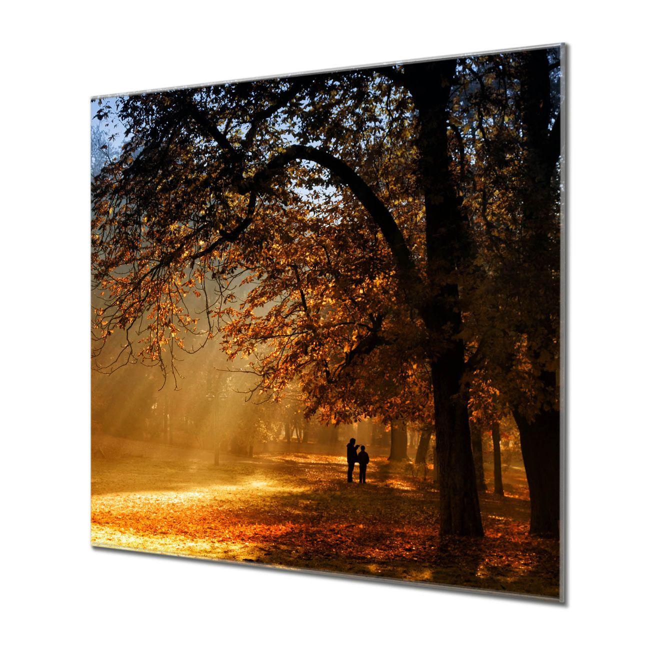 Küchenrückwand Glas Motiv Goldener Herbst