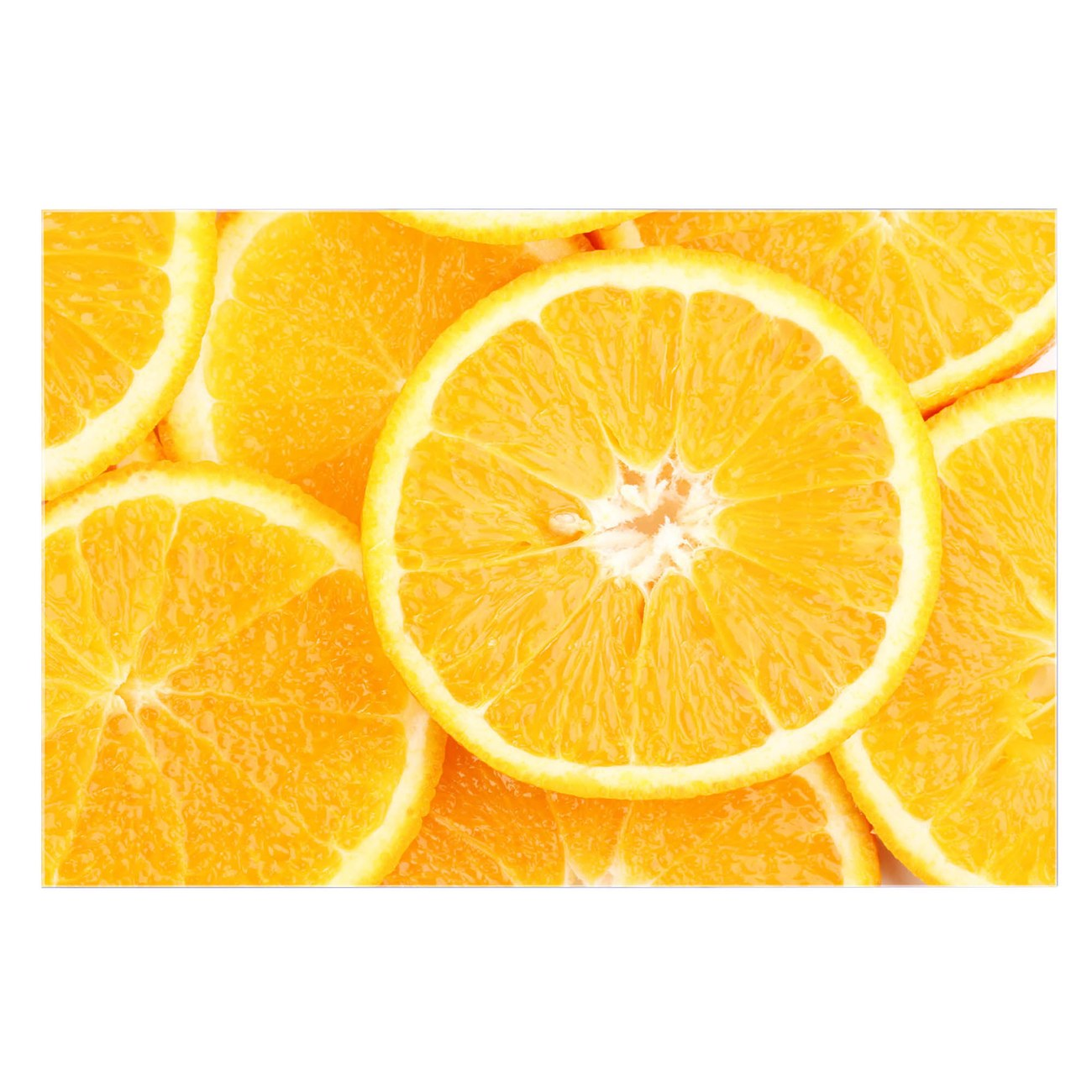 Küchenrückwand Glas Motiv Orangenscheiben