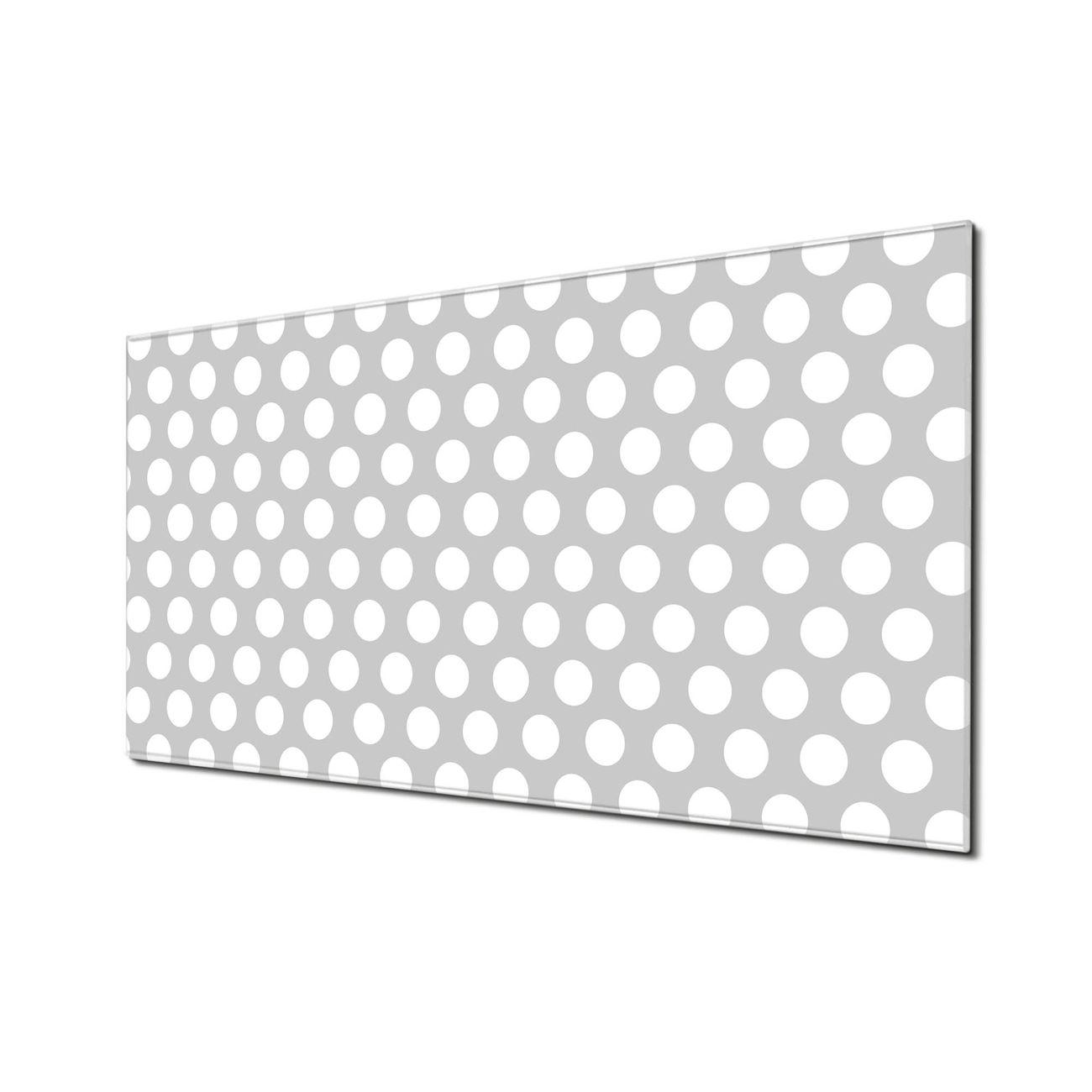 Küchenrückwand Glas Motiv Punkte Grau