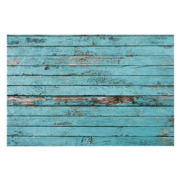 Küchenrückwand Glas Motiv Blaue Holzlatten