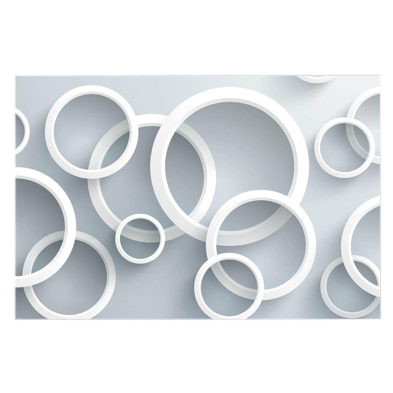 Küchenrückwand Glas Motiv Weiße Ringe