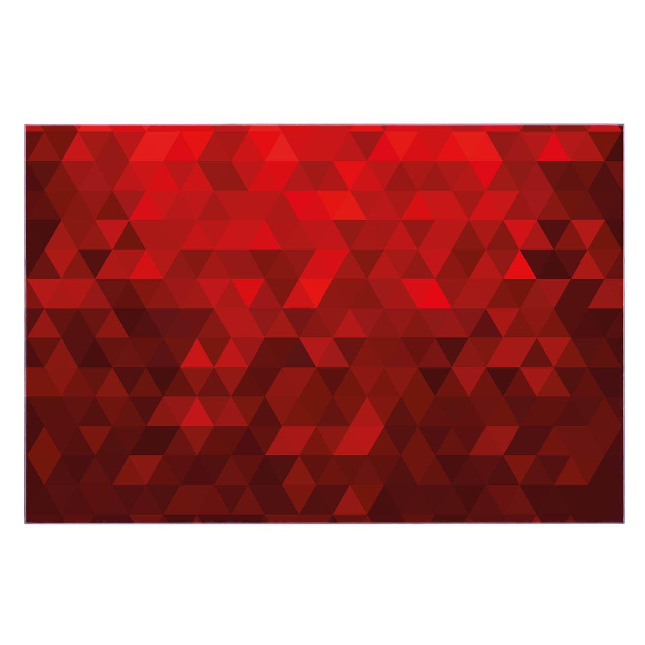 Küchenrückwand Glas Motiv Dreiecke Rot
