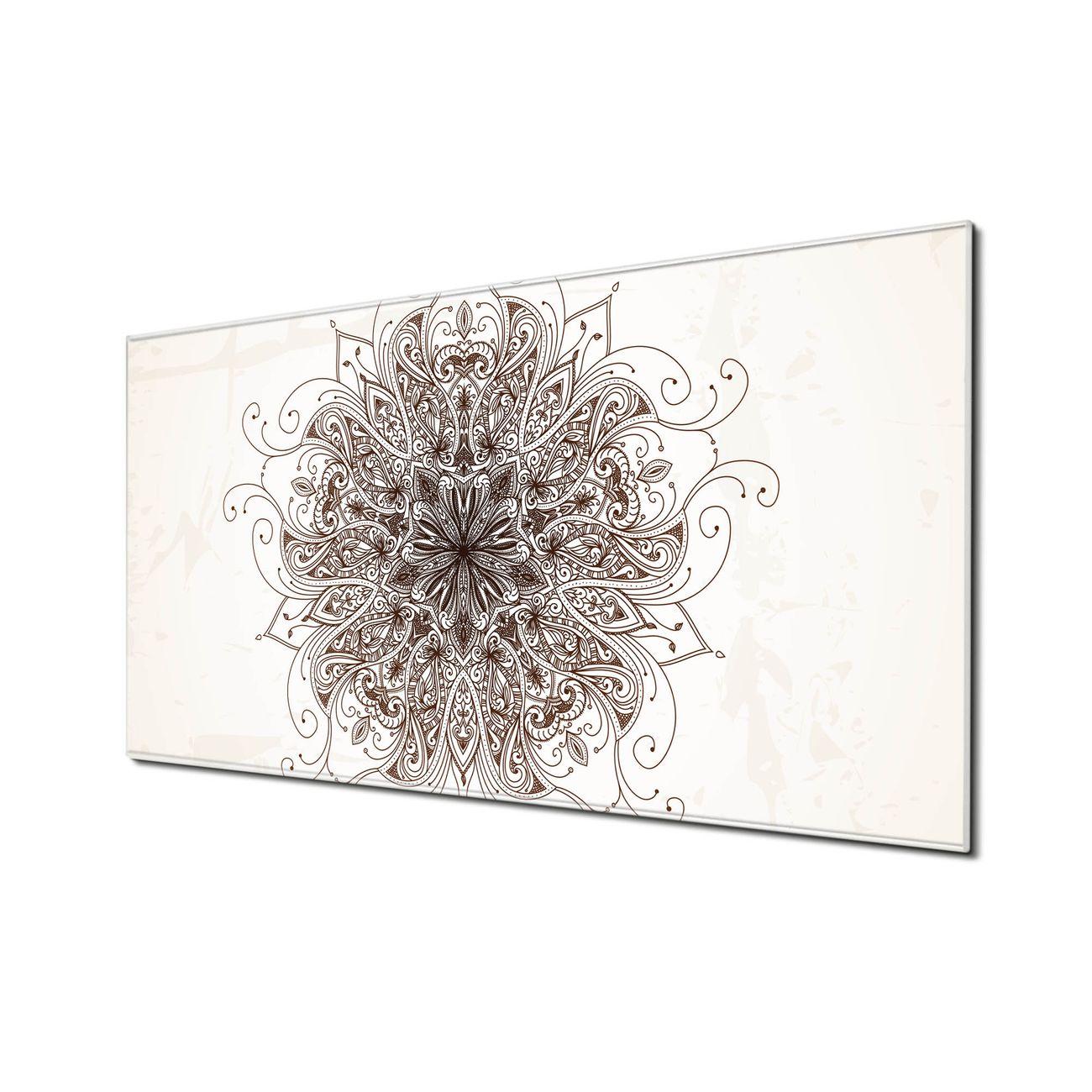 Küchenrückwand Glas Motiv Mehendi