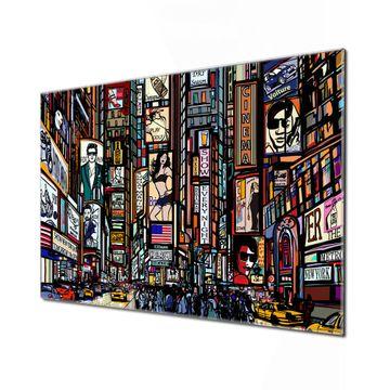 Küchenrückwand Glas Motiv New York Show