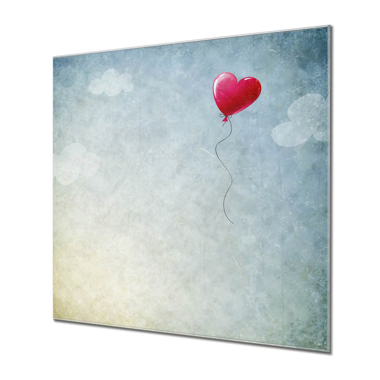 Küchenrückwand Glas Motiv Herzballon