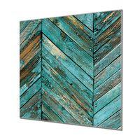Küchenrückwand Glas Motiv Altes Holz Blau