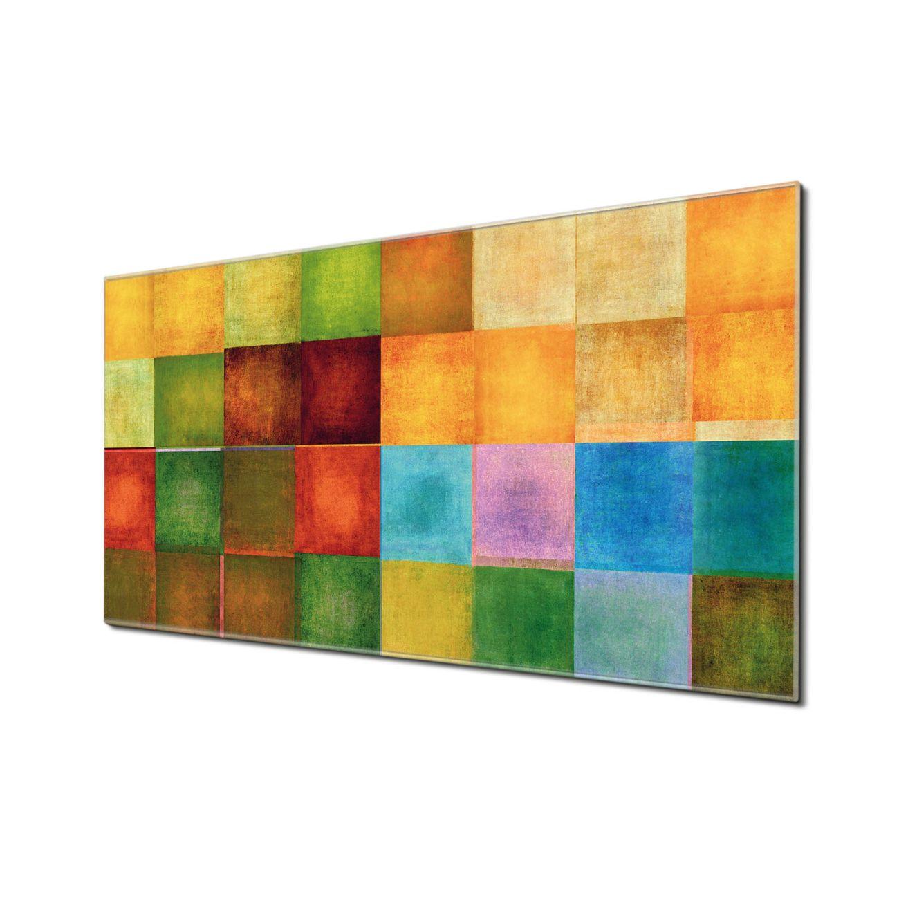 Küchenrückwand Glas Motiv Farbkasten