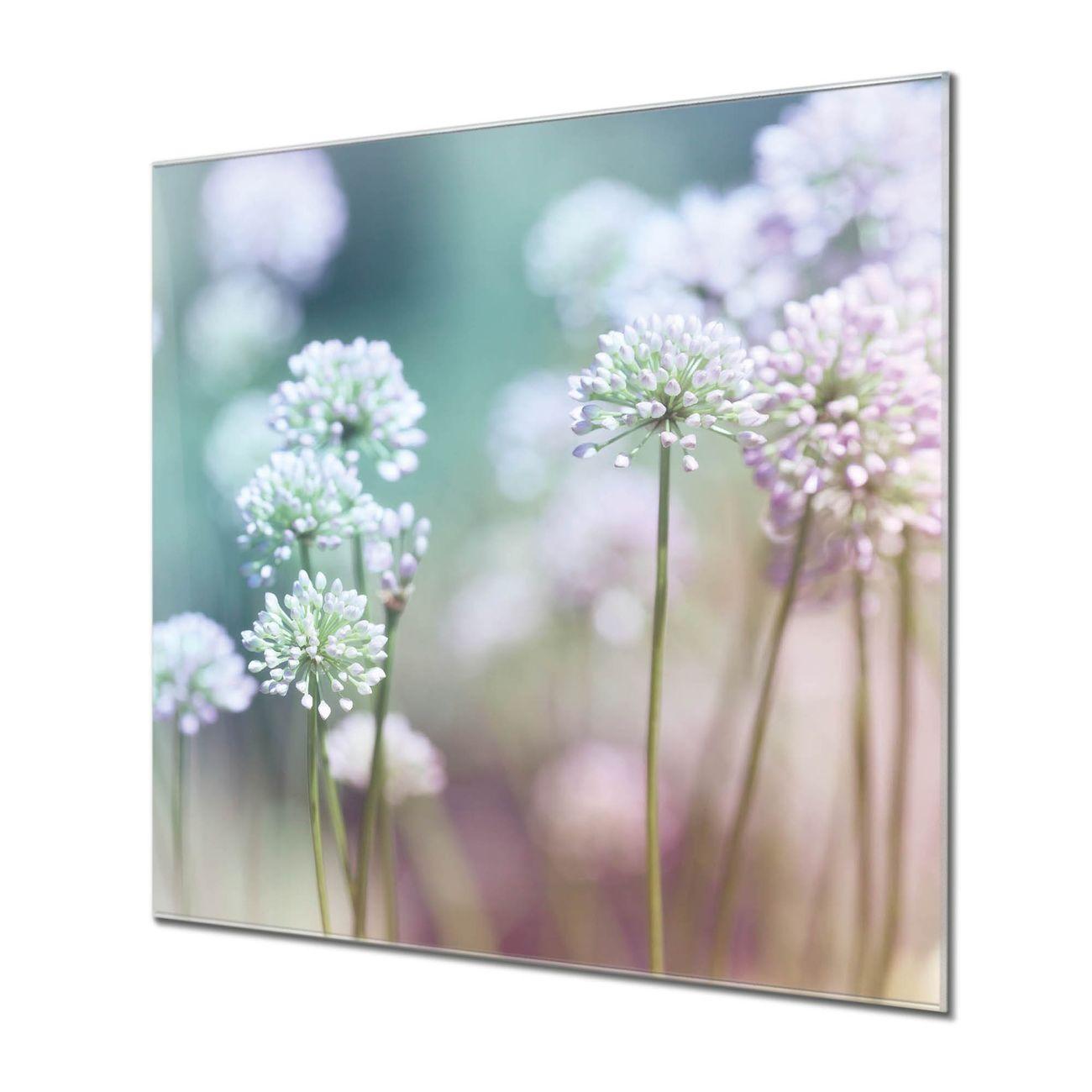Küchenrückwand Glas Motiv Lauchblüte