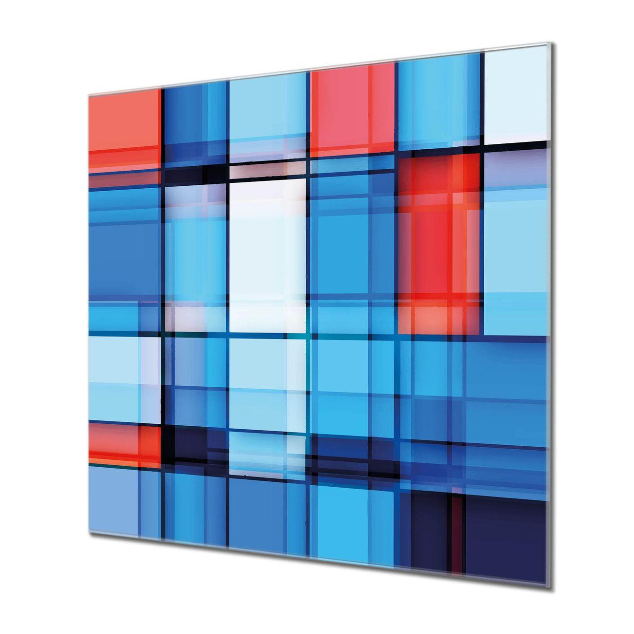 Küchenrückwand Glas Motiv Gläserne Stadt