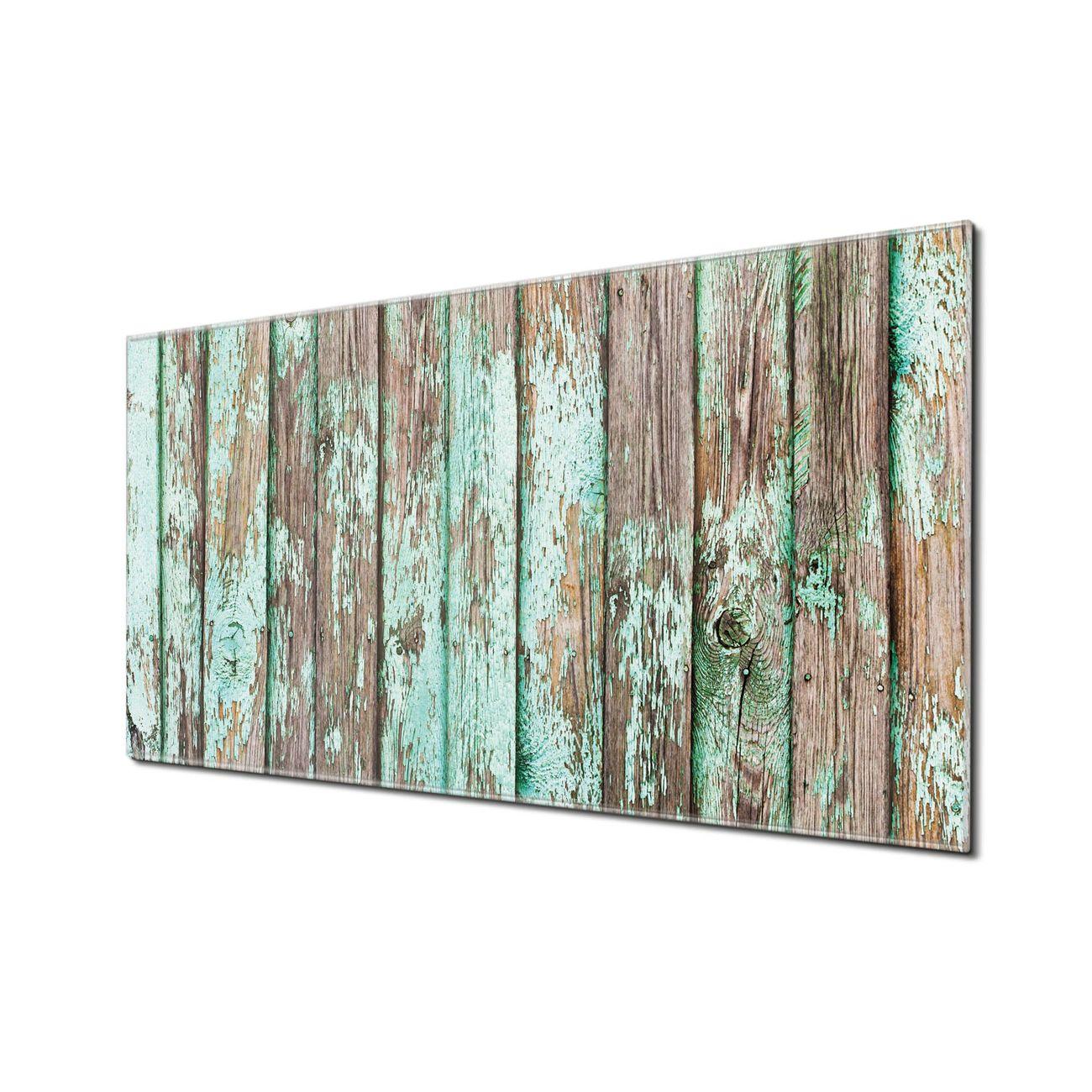 Küchenrückwand Glas Motiv Verwittertes Holz