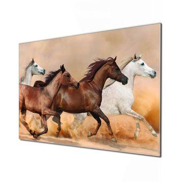 Küchenrückwand Glas Motiv Wilde Pferde