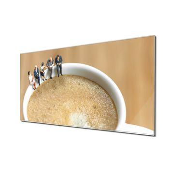 Küchenrückwand Glas Motiv Kaffeepause