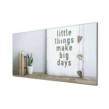 Küchenrückwand Glas Motiv Little Things