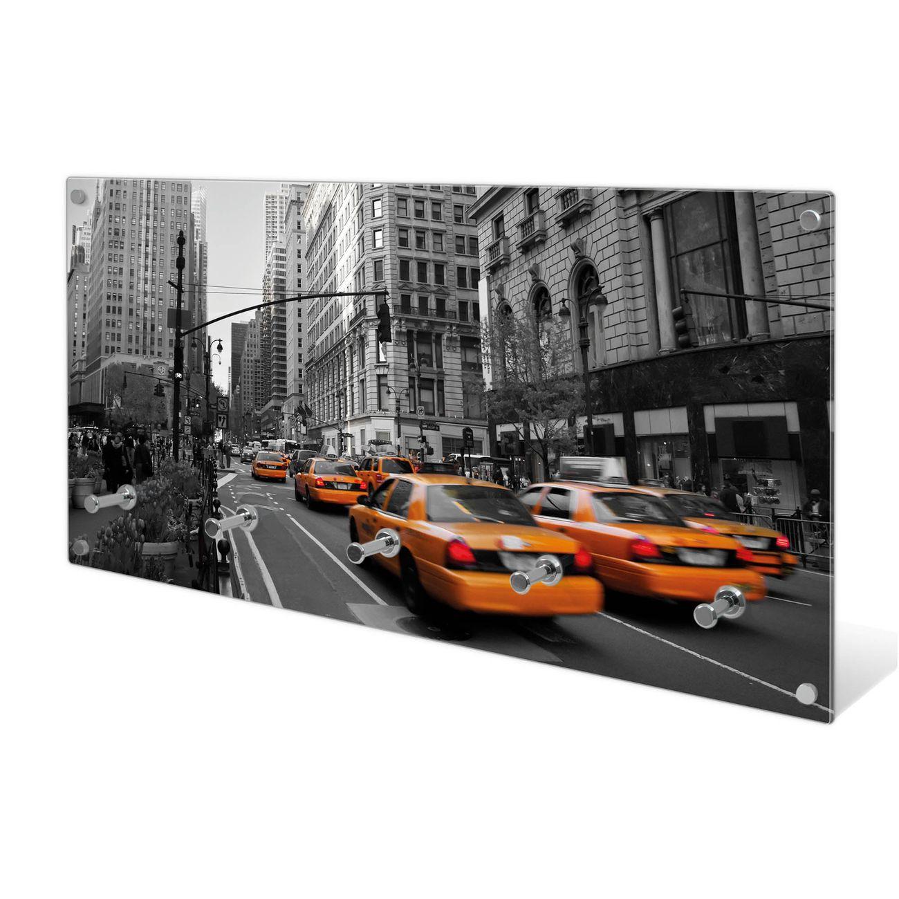 Garderobe aus Glas Motiv New York Taxi