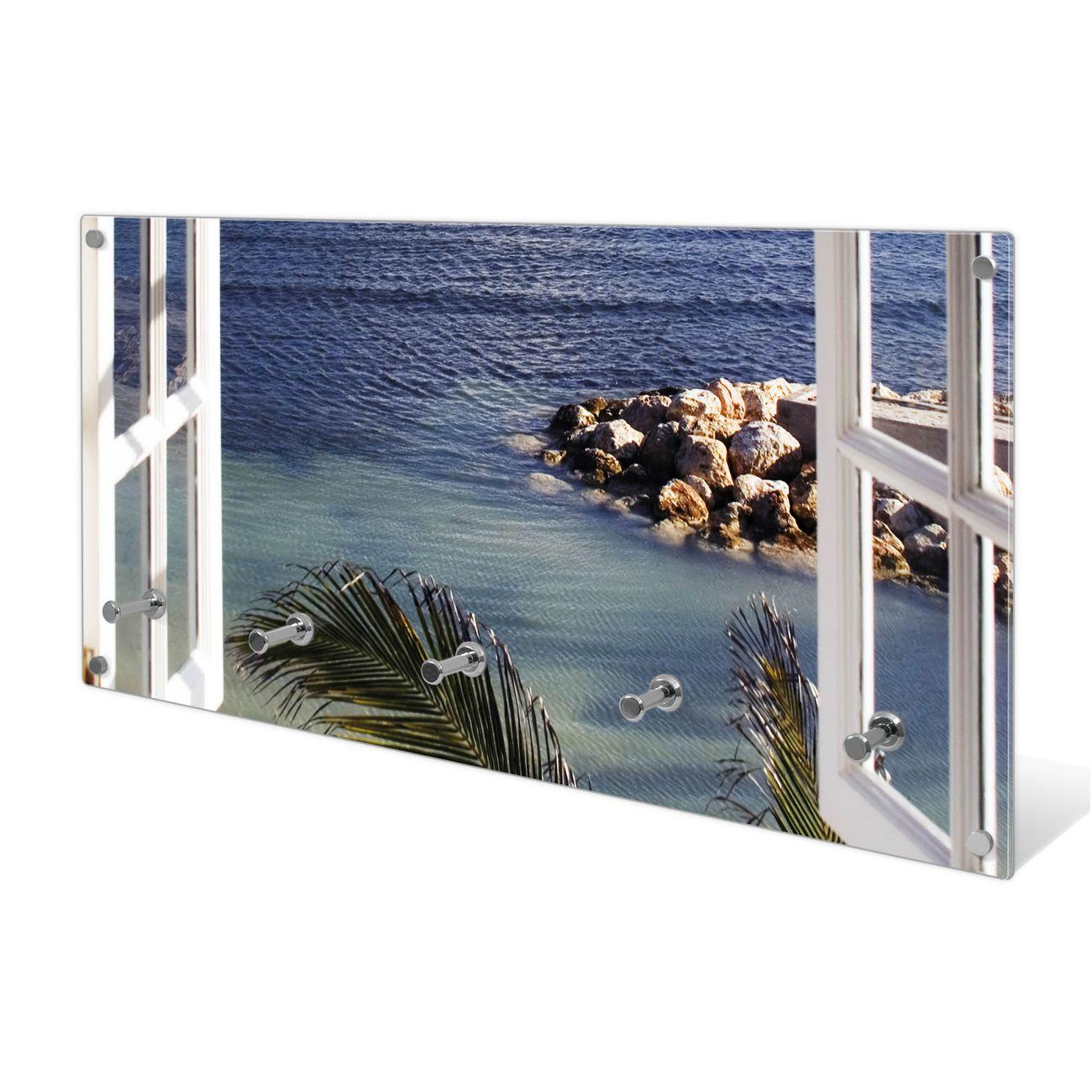 Garderobe aus Glas Motiv Fensterpanorama