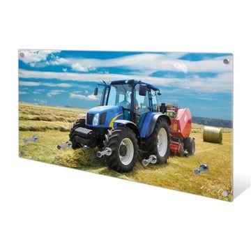Garderobe aus Glas Motiv Traktor