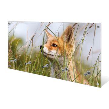 Garderobe aus Glas Motiv Fuchs