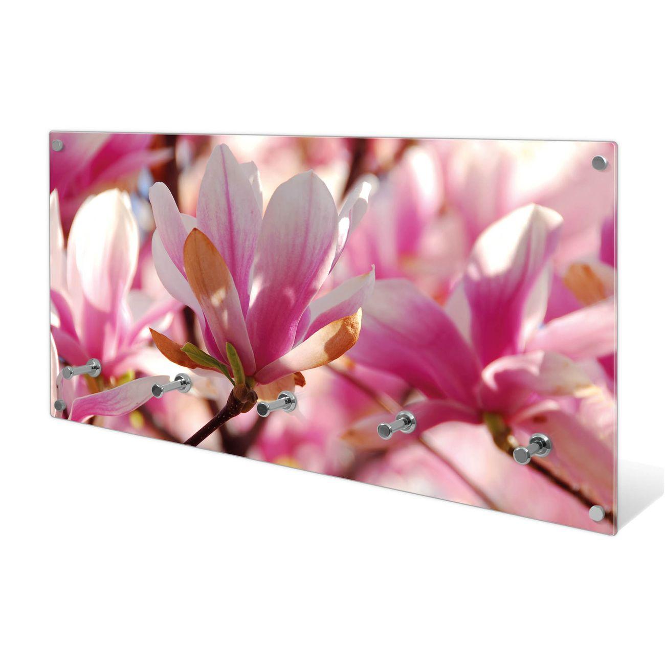 Garderobe aus Glas Motiv Magnolia