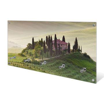 Garderobe aus Glas Motiv Toscana