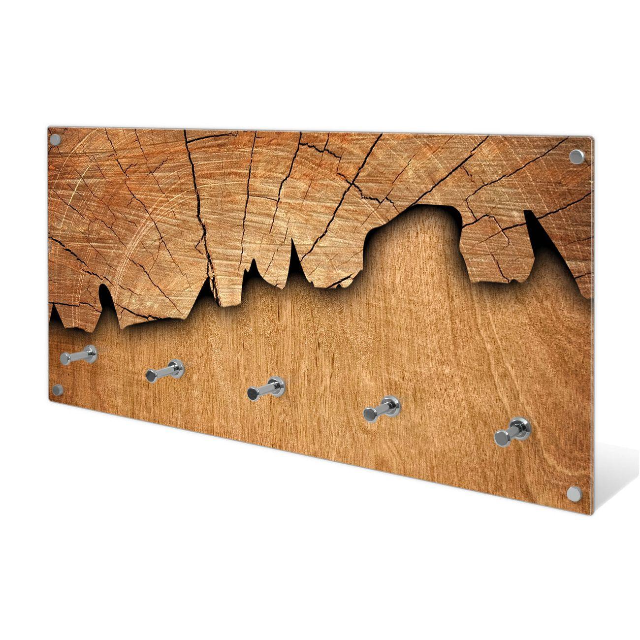 Garderobe Aus Glas Motiv Holz