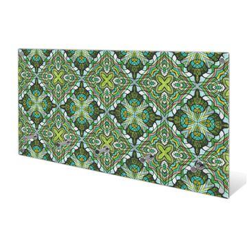Garderobe aus Glas Motiv Grünes Muster