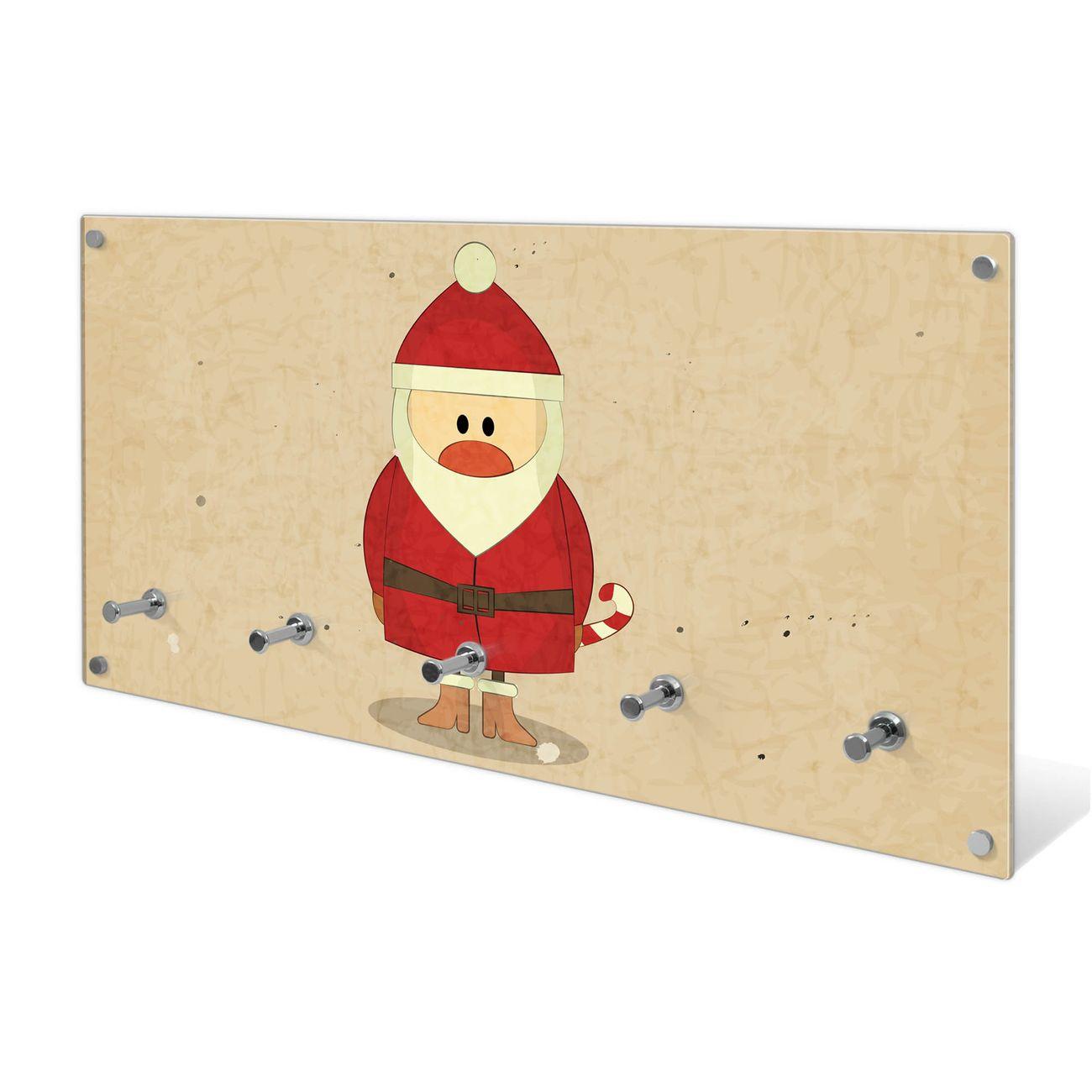 Garderobe aus Glas Motiv Cute Claus