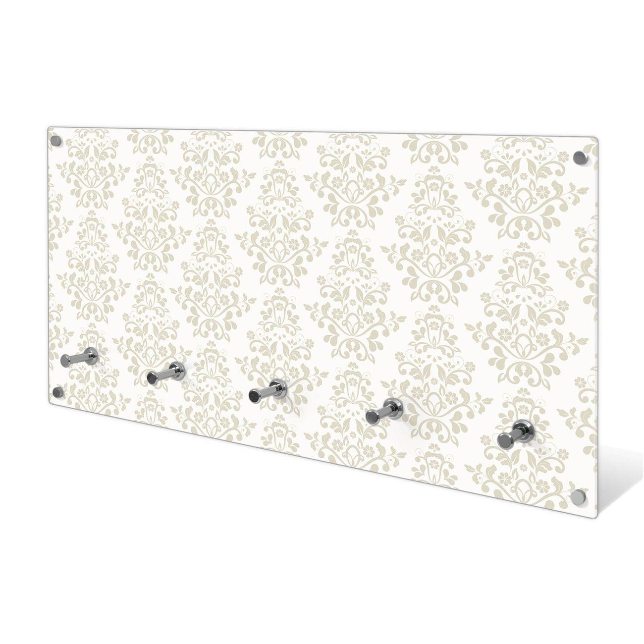 Garderobe aus Glas Motiv Tapete Weiß