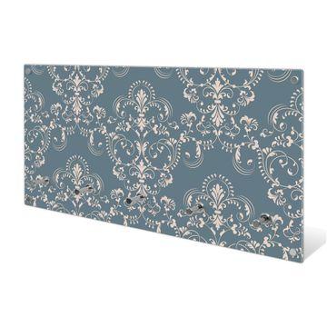 Garderobe aus Glas Motiv Royal Creme Blau