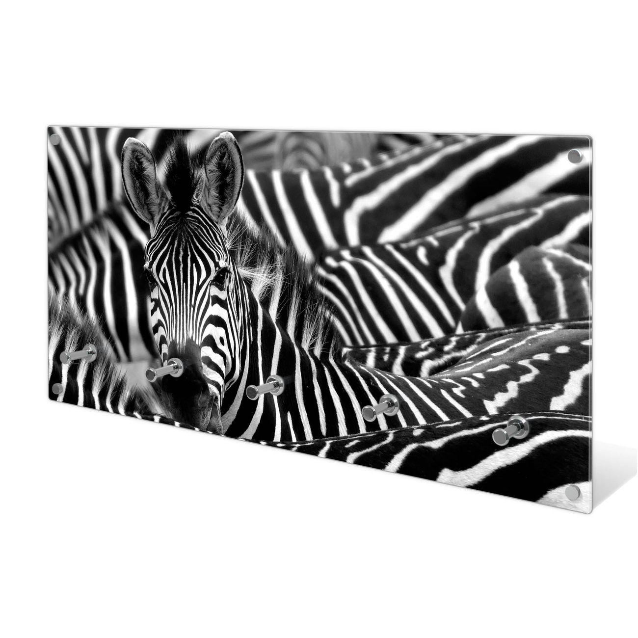 Garderobe aus Glas Motiv Zebras