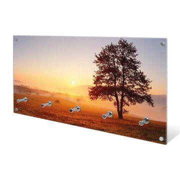 Garderobe aus Glas Motiv Sonnenaufgang