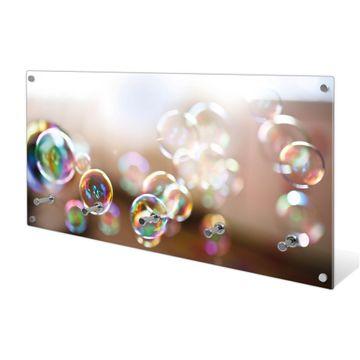 Garderobe aus Glas Motiv Seifenblasen