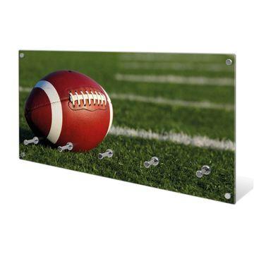 Garderobe aus Glas Motiv Football