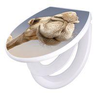 banjado Klodeckel weiß mit Absenkautomatik Toilettendeckel Kamele