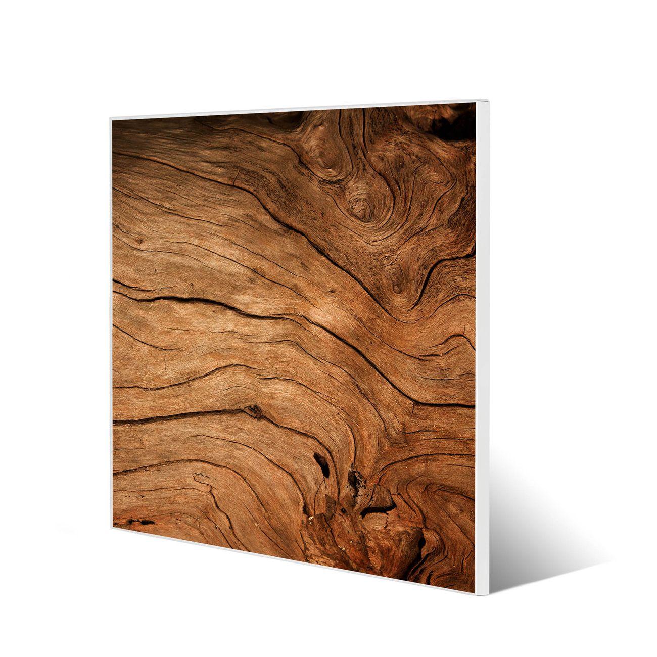 Stahl Magnettafel 50x50 Motiv Trockenes Holz
