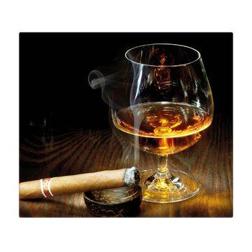Herdabdeckplatte 1 und 2 teilig Motiv Whiskey & Cigar