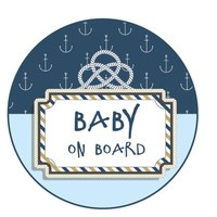 Sticker Baby on Board Anker